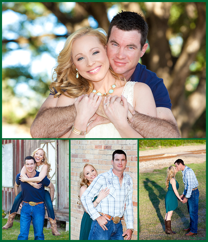Billy and Kim engagement pictures at League City Park