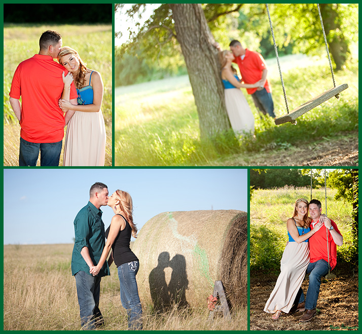 Brad and Ashley's engagement pictures in Brenham TX
